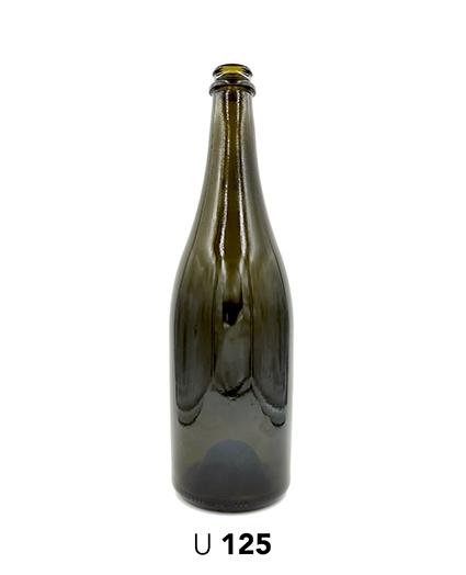U125 Botella Espumosos Vidrio